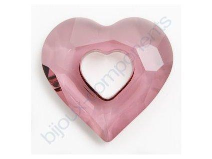 SWAROVSKI ELEMENTS přívěsek - Miss U Heart, crystal antique pink, 26mm