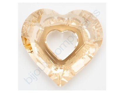SWAROVSKI ELEMENTS přívěsek - Miss U Heart, crystal golden shadow, 26mm