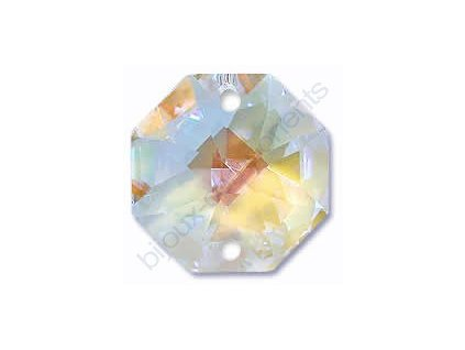 Oktagon Swarovski, 14mm, crystal blue AB