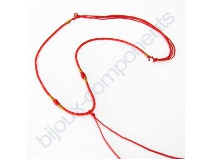 Ručně pletená šňůrka - červená