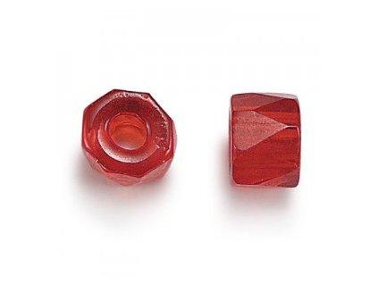 Skleněné broušené bavoráky červená