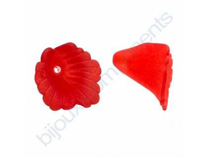 Akrylové kytičky - červené