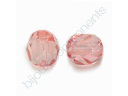 Skleněné ohňové korálky- modré/pokov AB, vel.cca 8 mm