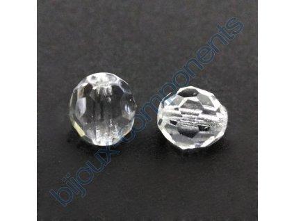 Skleněné ohňové korálky- krystal, vel.cca 8 mm