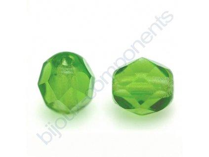 Ohňové korálky barvené, cca 6mm/ zelené