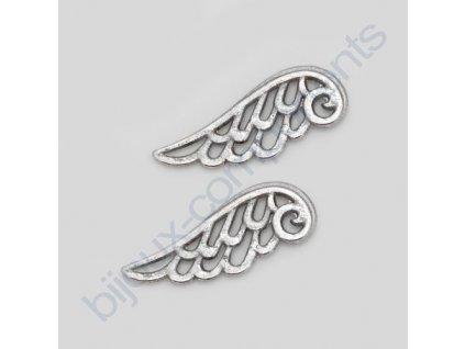 Kovové korálky - křídla