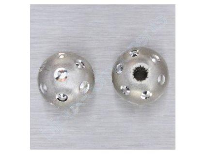 """kulička """"diamantová""""-hladká s puntíky, cca 8mm"""