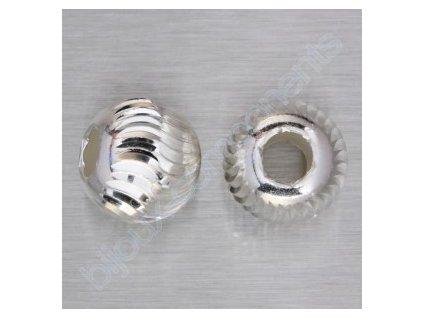 "kulička ""diamantová""-hladká s vlnkami, cca 8mm"
