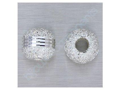 """kulička """"diamantová""""- s proužkem, cca 8mm"""