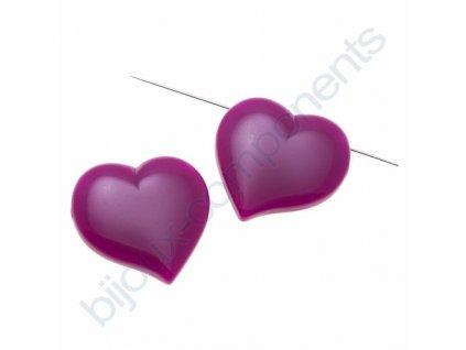 Perle z plastu, srdce fialové