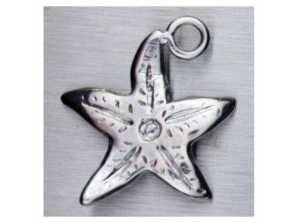 Přívěsek - mořská hvězdice, cca 17x15mm