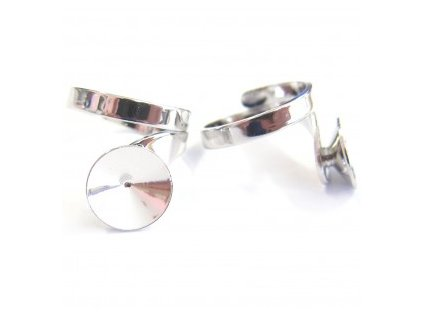 Prsten nastavitelný s kotlíkem na rivoli 1122 12mm, min. vnitřní průměr cca 16mm