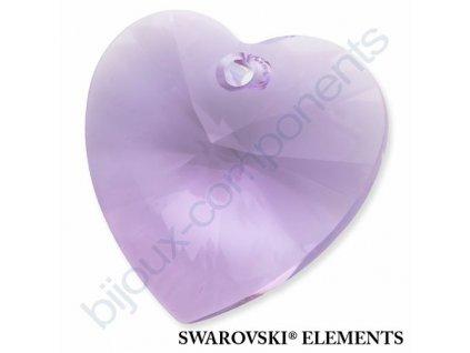 SWAROVSKI ELEMENTS přívěsek - XILION srdce, violet, 28mm