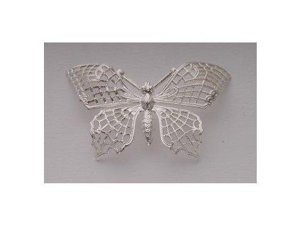 Motýl, filigrán, cca 42mm