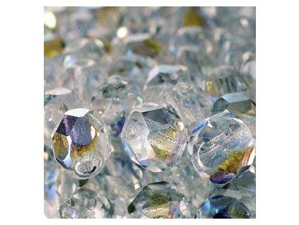 Skleněné ohňové korálky-krystal/AB pokov , vel.cca 8 mm