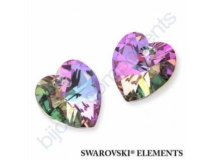 SWAROVSKI CRYSTALS přívěsek - XILION srdce, crystal vitrail light, 10,3x10mm