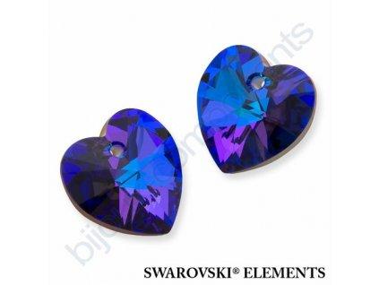 SWAROVSKI CRYSTALS přívěsek - XILION srdce, crystal helio, 10,3x10mm