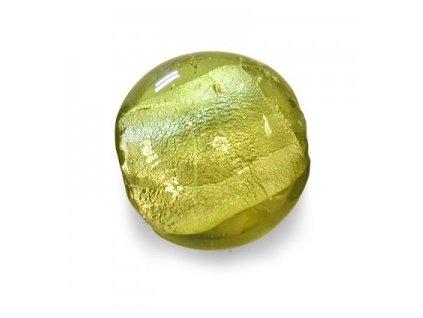 Skleněné korálky olivínové