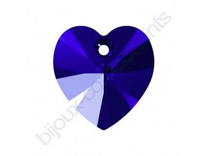 SWAROVSKI CRYSTALS přívěsek - XILION srdce, majestic blue, 10,3x10mm