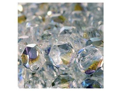 Skleněné ohňové korálky-krystal/AB pokov , vel.cca 6 mm