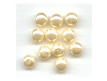 Skleněné voskované perle, krémová - díky složitým technologickým procesům při výrobě, nelze zajistit stejný odstín barev u jednotlivých velikostí !!!