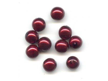 Skleněné voskované perle, bordó - díky složitým technologickým procesům při výrobě, nelze zajistit stejný odstín barev u jednotlivých velikostí !!!
