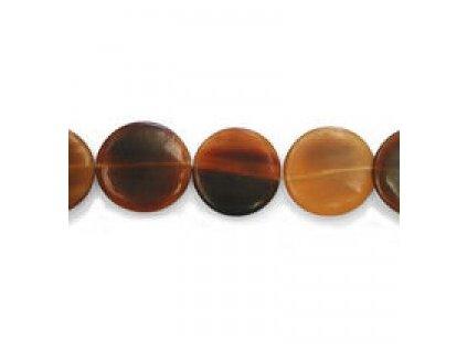 Perle z rohoviny - kulatý disk