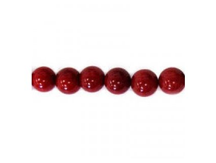 Červený korál - barvený - kuličky