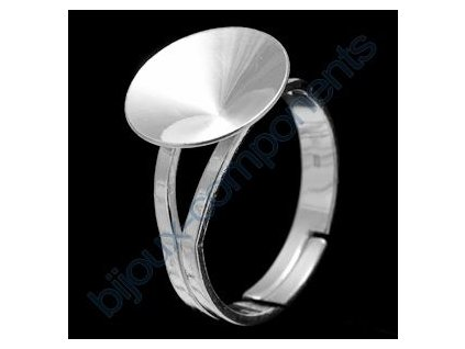 Prsten nastavitelný s kotlíkem na rivoli 1122 12mm