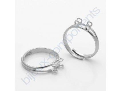 prsten nastavitelný s 4 očky, min. vnitřní průměr cca 16mm