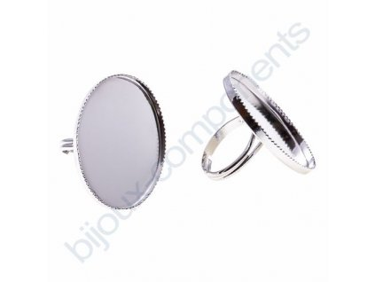 Prsten nastavitelný s kotlíkem (lůžkem) cca 30X25mm, min. vnitřní průměr cca 30mm