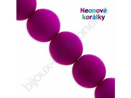 Neonové korálky s UV efektem, kuličky, fialové