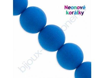 Neonové korálky s UV efektem, kuličky, modré