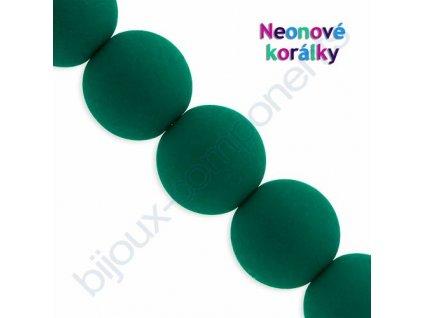Neonové korálky s UV efektem, kuličky, tmavě zelené