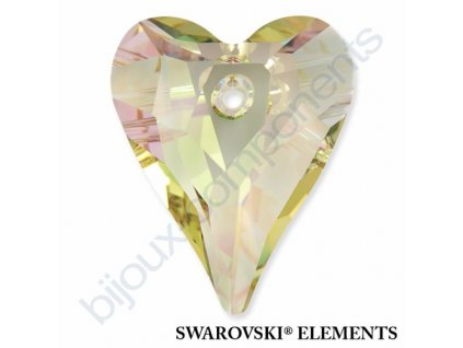 SWAROVSKI ELEMENTS přívěsek - Wild Heart, crystal lumin green, 12mm