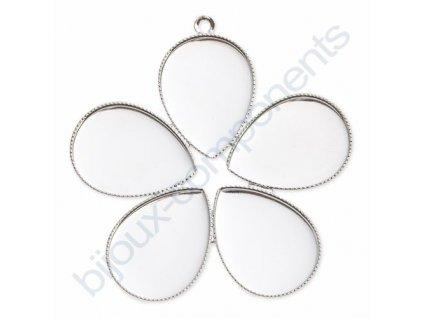 Přívěskový kotlík (lůžko) 5 kapek s očkem