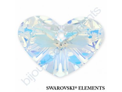 SWAROVSKI ELEMENTS přívěsek - Crazy 4 U Heart, crystal AB, 27mm