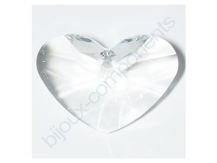 SWAROVSKI ELEMENTS přívěsek - Crazy 4 U Heart, crystal, 27mm