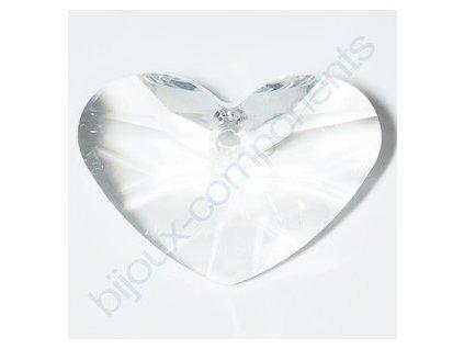 SWAROVSKI ELEMENTS přívěsek - Crazy 4 U Heart, crystal, 27mm
