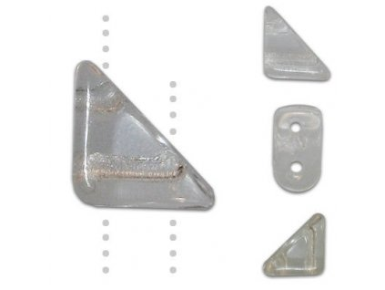 Skleněné korálky mačkané, TANGO BEAD cca 6mm/ krystal