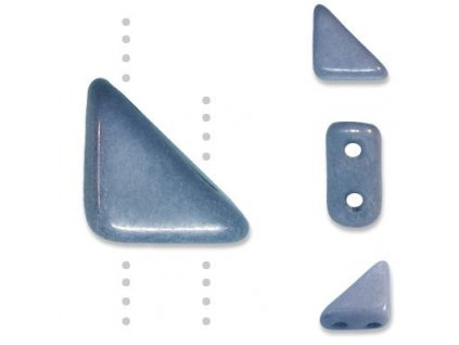 Skleněné korálky mačkané, TANGO BEAD cca 6mm/ modro-šedý pokov