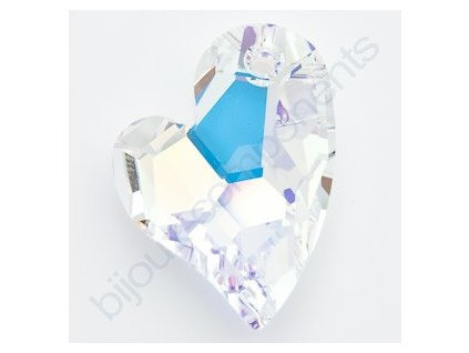 SWAROVSKI ELEMENTS přívěsek - Devoted 2 U Heart, crystal AB, 17mm