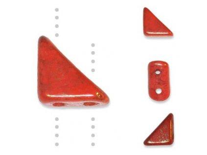Skleněné korálky mačkané, TANGO BEAD cca 6mm/ oranžová/pokov