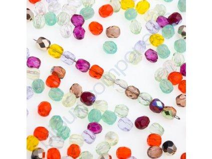 Skleněné ohňové korálky-mix barev, vel.cca 4 mm