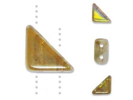 Skleněné korálky mačkané, TANGO BEAD cca 6mm/ krystal-pokov