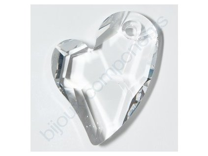 SWAROVSKI ELEMENTS přívěsek - Devoted 2 U Heart, crystal, 17mm