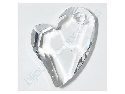 SWAROVSKI ELEMENTS přívěsek - Devoted 2 U Heart, crystal, 17mm