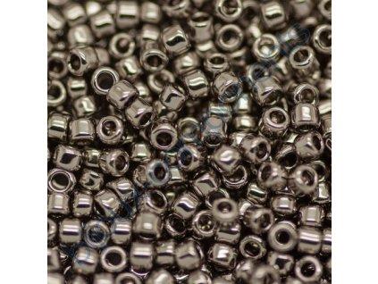 TOHO rokajl, Nickel, vel.1,5 mm, průtah 0,5 mm