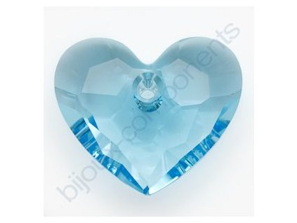 SWAROVSKI ELEMENTS přívěsek - Truly in Love Heart, aquamarine, 18mm