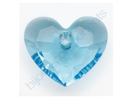 SWAROVSKI ELEMENTS přívěsek - Truly in Love Heart, aquamarine, 18mm